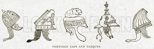 Phrygian Caps and Casques. Illustration from With the World