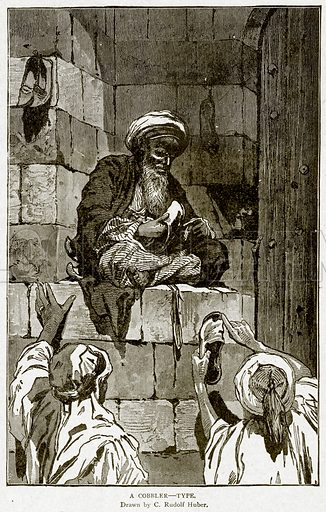 A Cobbler--Type. Illustration from With the World's People by John Clark Ridpath (Clark E Ridpath, 1912).