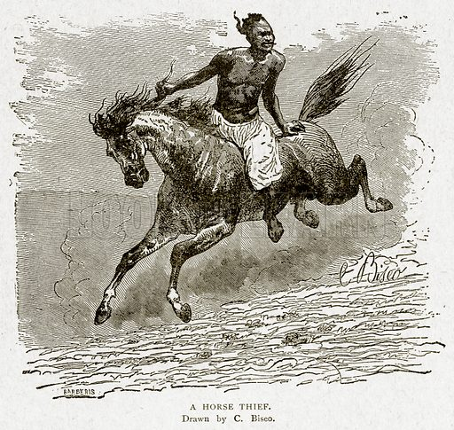 A Horse Thief. Illustration from With the World's People by John Clark Ridpath (Clark E Ridpath, 1912).