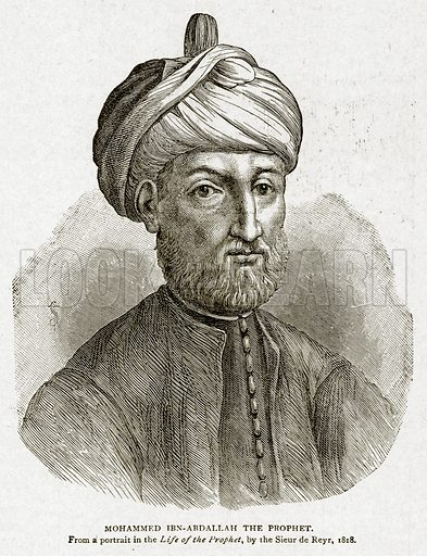 Mohammed Ibn-Abdallah the Prophet. Illustration from With the World