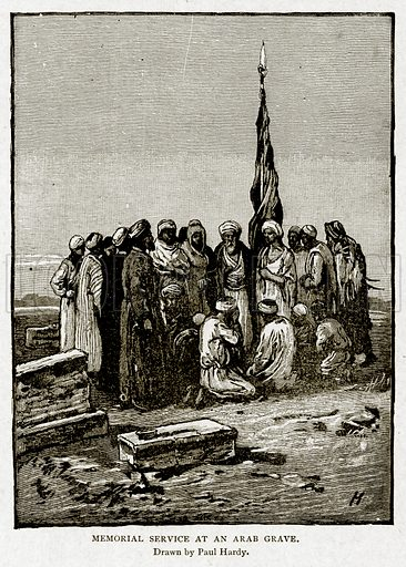 Memorial Service at an Arab Grave. Illustration from With the World's People by John Clark Ridpath (Clark E Ridpath, 1912).