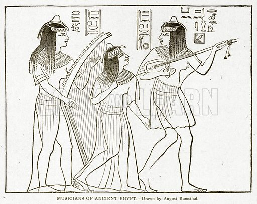 Musicians of Ancient Egypt. Illustration from With the World's People by John Clark Ridpath (Clark E Ridpath, 1912).