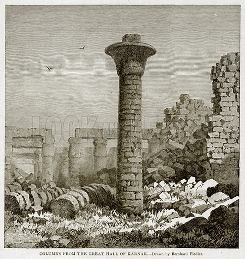 Columns from the Great Hall of Karnak. Illustration from With the World
