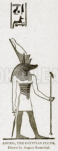 Anubis, the Egyptian Pluto. Illustration from With the World's People by John Clark Ridpath (Clark E Ridpath, 1912).