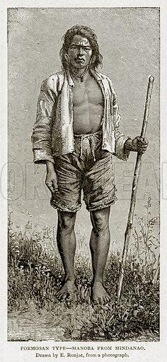 Formosan Type--Manoba from Mindanao. Illustration from With the World's People by John Clark Ridpath (Clark E Ridpath, 1912).