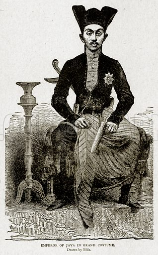 Emperor of Java in Grand Costume. Illustration from With the World