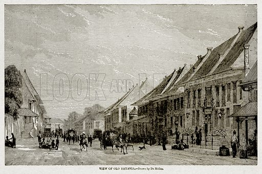 View of Old Batavia. Illustration from With the World's People by John Clark Ridpath (Clark E Ridpath, 1912).