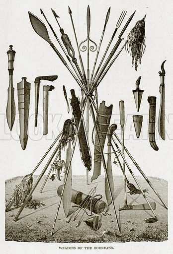 Weapons of the Borneans. Illustration from With the World