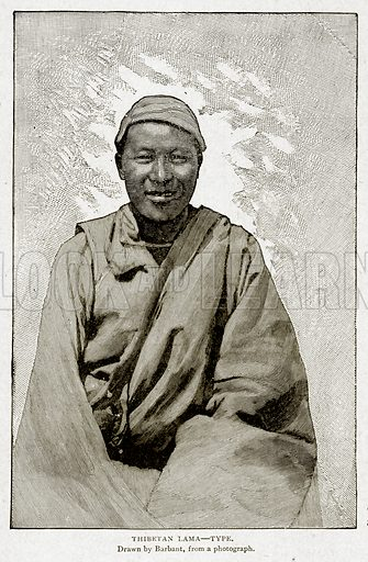 Thibetan Lama--Type. Illustration from With the World