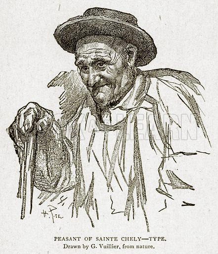 Peasant of Sainte Chely--Type. Illustration from With the World's People by John Clark Ridpath (Clark E Ridpath, 1912).