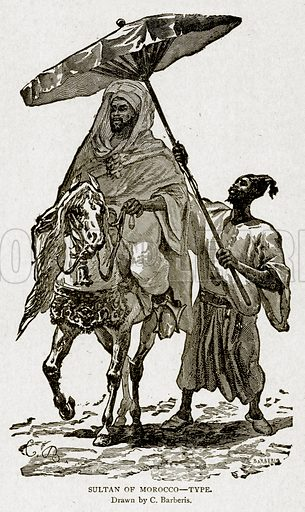 Sultan of Morocco--Type. Illustration from With the World's People by John Clark Ridpath (Clark E Ridpath, 1912).