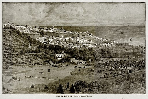 View of Tangier. Illustration from With the World