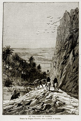 At the Oasis of Hamma. Illustration from With the World's People by John Clark Ridpath (Clark E Ridpath, 1912).