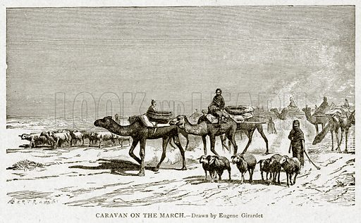 Caravan of the March. Illustration from With the World's People by John Clark Ridpath (Clark E Ridpath, 1912).