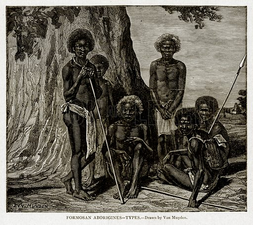 Formosan Aborigines--Types. Illustration from With the World's People by John Clark Ridpath (Clark E Ridpath, 1912).