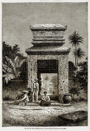 Mosque of Soerabaija, Batavia. Illustration from With the World's People by John Clark Ridpath (Clark E Ridpath, 1912).