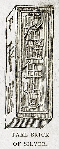 Tael Brick of Silver. Illustration from With the World