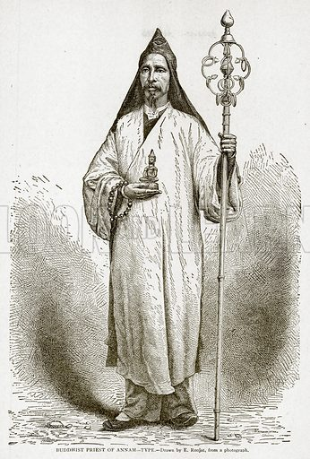 Buddhist Priest of Annam--Type. Illustration from With the World's People by John Clark Ridpath (Clark E Ridpath, 1912).