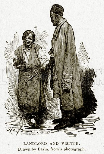 Landlord and Visitor. Illustration from With the World's People by John Clark Ridpath (Clark E Ridpath, 1912).
