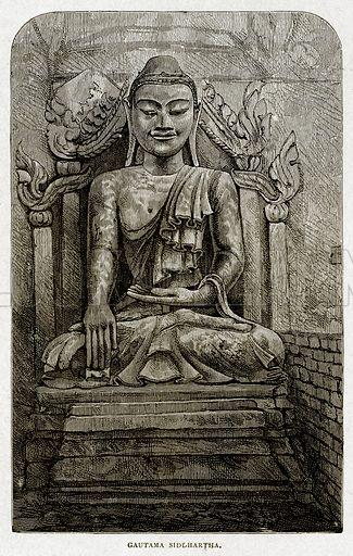 Gautama Siddhartha. Illustration from With the World's People by John Clark Ridpath (Clark E Ridpath, 1912).