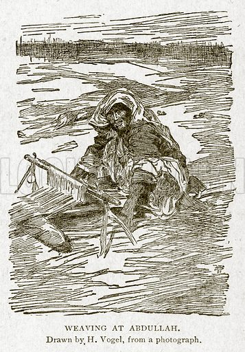 Weaving at Abdullah. Illustration from With the World