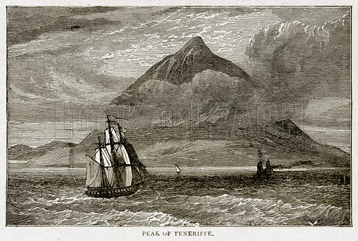 Peak of Teneriffe. Illustration from With the World's People by John Clark Ridpath (Clark E Ridpath, 1912).