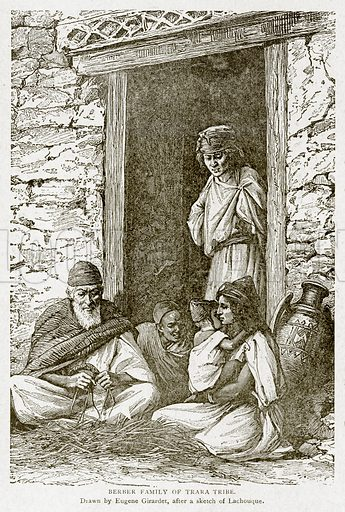 Berber Family of Trara Tribe. Illustration from With the World's People by John Clark Ridpath (Clark E Ridpath, 1912).