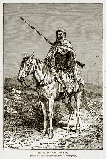 Tripolitan Sheik--Type. Illustration from With the World's People by John Clark Ridpath (Clark E Ridpath, 1912).