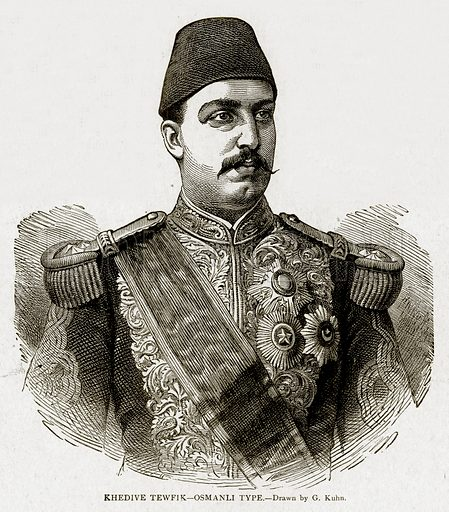 Khedive Tewfik – Osmanli Type. Illustration from With the World's People by John Clark Ridpath (Clark E Ridpath, 1912).