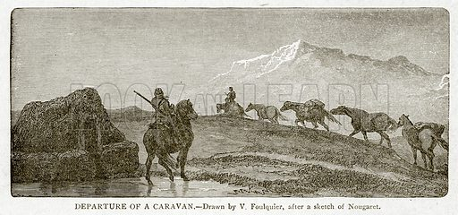 Departure of a Caravan. Illustration from With the World's People by John Clark Ridpath (Clark E Ridpath, 1912).
