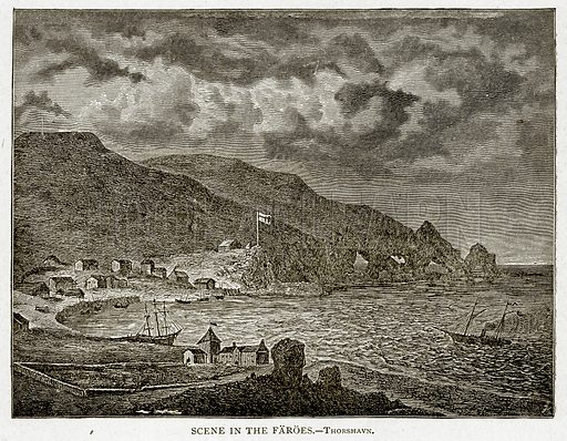 Scene in the Faroes. Illustration from With the World's People by John Clark Ridpath (Clark E Ridpath, 1912).