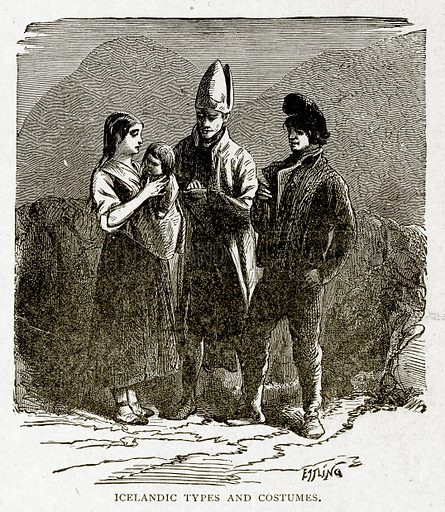 Icelandic Types and Costumes. Illustration from With the World's People by John Clark Ridpath (Clark E Ridpath, 1912).