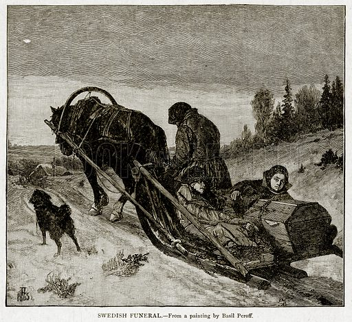 Swedish Funeral. Illustration from With the World's People by John Clark Ridpath (Clark E Ridpath, 1912).