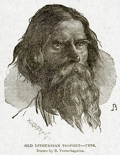 Old Lithuanian Prophet--Type. Illustration from With the World's People by John Clark Ridpath (Clark E Ridpath, 1912).