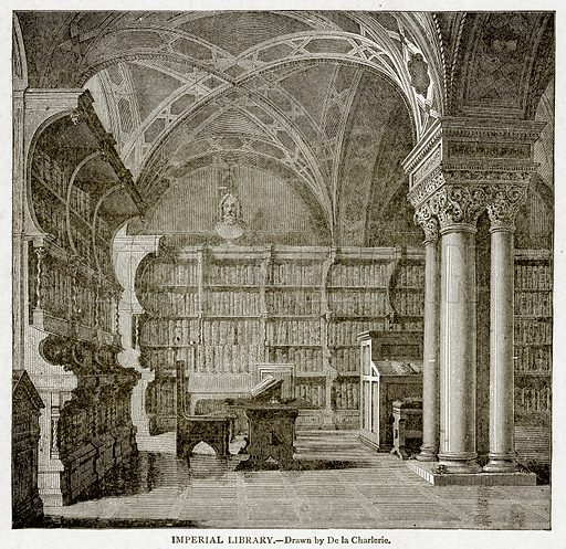 Imperial Library. Illustration from With the World
