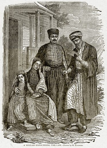 A Mollah Expounding the Law. Illustration from With the World's People by John Clark Ridpath (Clark E Ridpath, 1912).