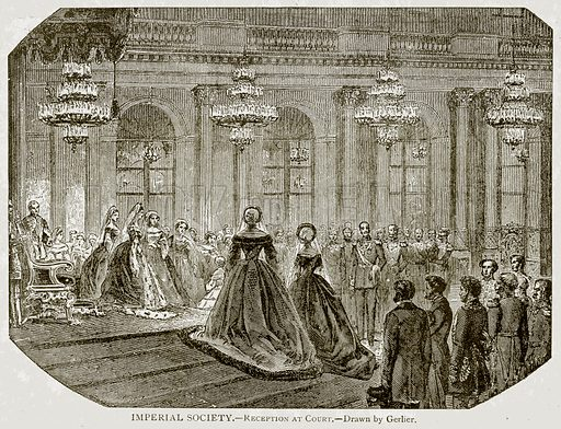 Imperial Socity.--Reception at Court. Illustration from With the World's People by John Clark Ridpath (Clark E Ridpath, 1912).