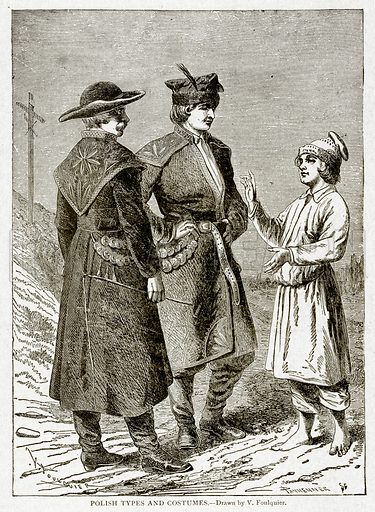 Polish Types and Costumes. Illustration from With the World's People by John Clark Ridpath (Clark E Ridpath, 1912).