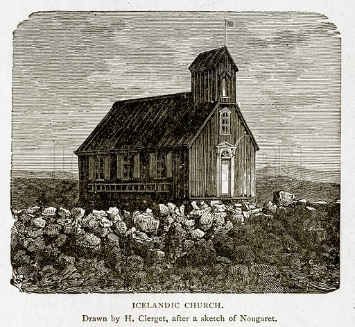 Icelandic Church. Illustration from With the World