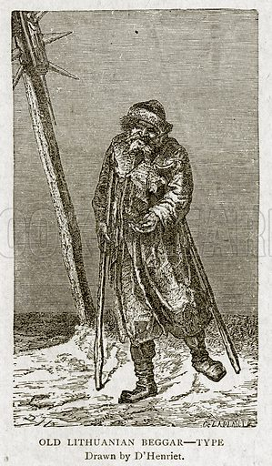 Old Lithuanian Beggar--Type. Illustration from With the World's People by John Clark Ridpath (Clark E Ridpath, 1912).