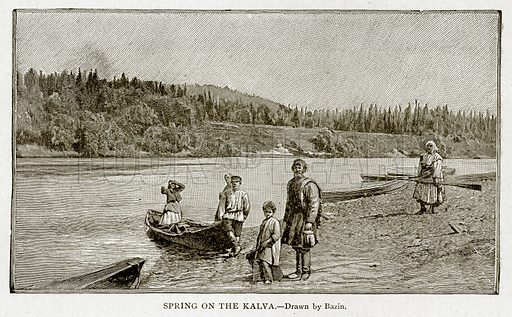 Spring on the Kalva. Illustration from With the World's People by John Clark Ridpath (Clark E Ridpath, 1912).