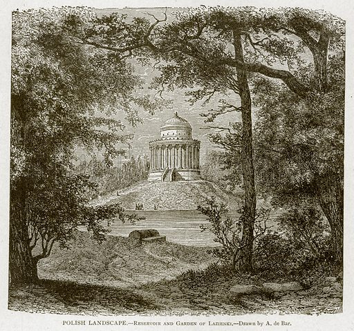 Polish Landscape.--Reservoir and Garden of Lazienki. Illustration from With the World