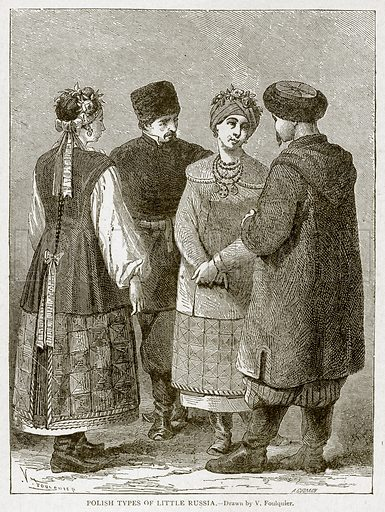 Polish Types of Little Russia. Illustration from With the World's People by John Clark Ridpath (Clark E Ridpath, 1912).