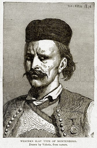 Western Slav Type of Montenegro. Illustration from With the World
