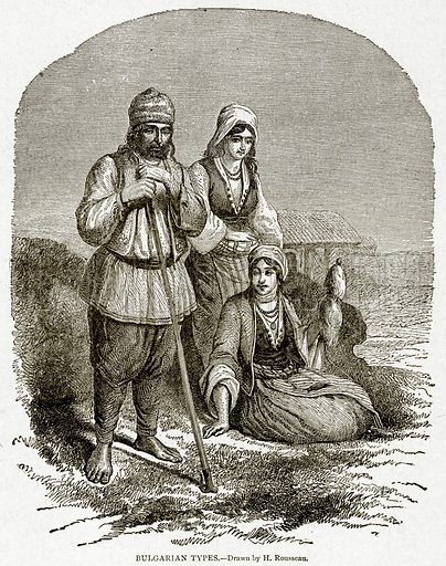 Bulgarian Types. Illustration from With the World