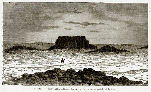 Ruins of Sippara. Illustration from With the World's People by John Clark Ridpath (Clark E Ridpath, 1912).