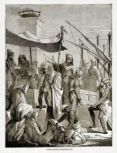 Babylonian Merchants. Illustration from With the World's People by John Clark Ridpath (Clark E Ridpath, 1912).
