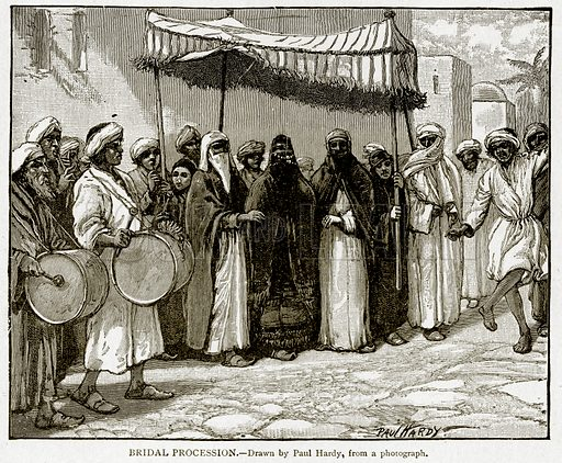 Bridal Procession. Illustration from With the World's People by John Clark Ridpath (Clark E Ridpath, 1912).