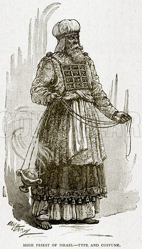 High Priest of Israel – Type and Costume. Illustration from With the World's People by John Clark Ridpath (Clark E Ridpath, 1912).