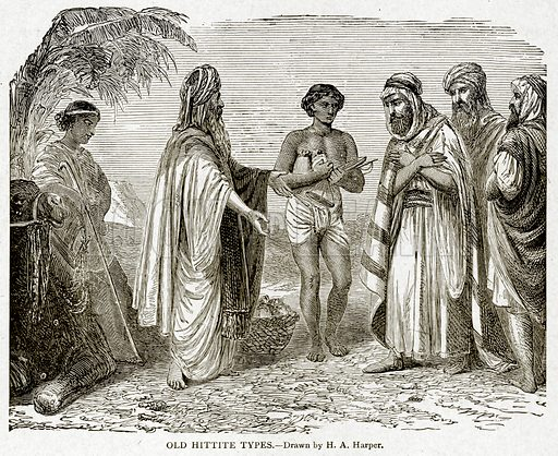 Old Hittite Types. Illustration from With the World's People by John Clark Ridpath (Clark E Ridpath, 1912).